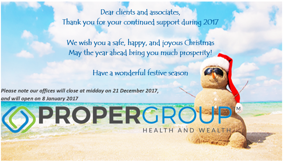 Festive Greetings From Proper Group